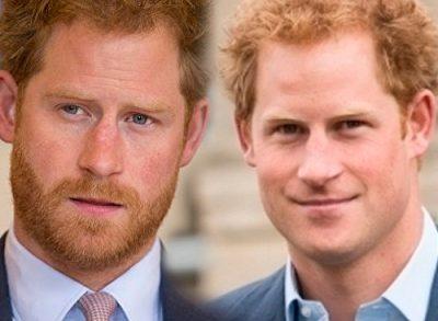 Принц Гарри с бородой и без